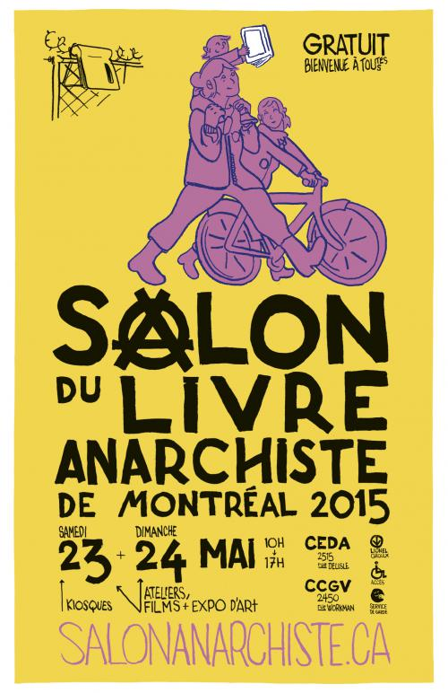 affiches et tracts pour le salon du livre anarchiste svp partagez montreal anarchist. Black Bedroom Furniture Sets. Home Design Ideas