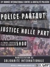 CONFIRMATION : ACTIVITÉ AVANT-MANIF - 14 à 15H ET de LA 24e MANIFESTATION CONTRE LA BRUTALITÉ POLICIÈRE - 15H ****  CONFIRMATION : ACTIVITY BEFORE-DEMO – 2PM AND THE 24th DEMONSTRATION AGAINST POLICE BRUTALITY - 3PM