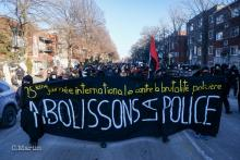 Communiqué de presse : 15 mars 2021 - 25e manifestation annuelle pour la Journée internationale contre la brutalité policière *** Press Release: March 15, 2021 - 25th Annual International Day Against Police Brutality